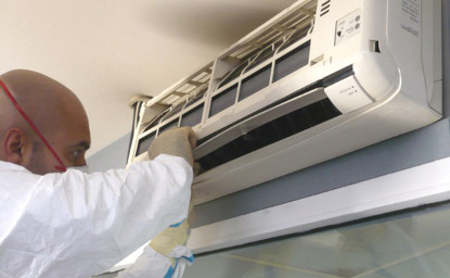 Nettoyage et désinfection des climatiseurs, évaporateur, condenseur